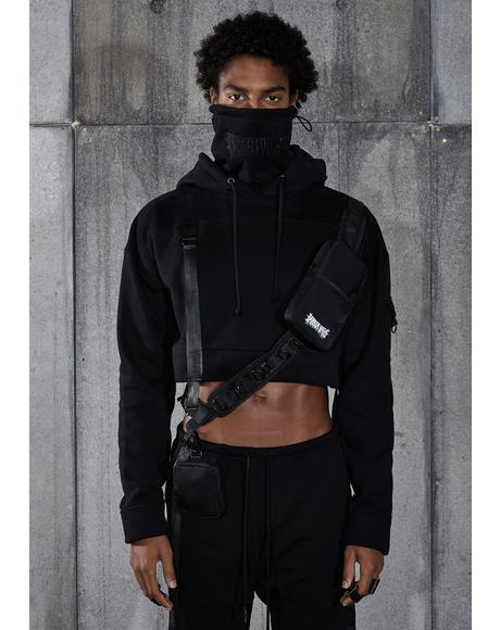 Snare Tactical Masked Crop Hoodie