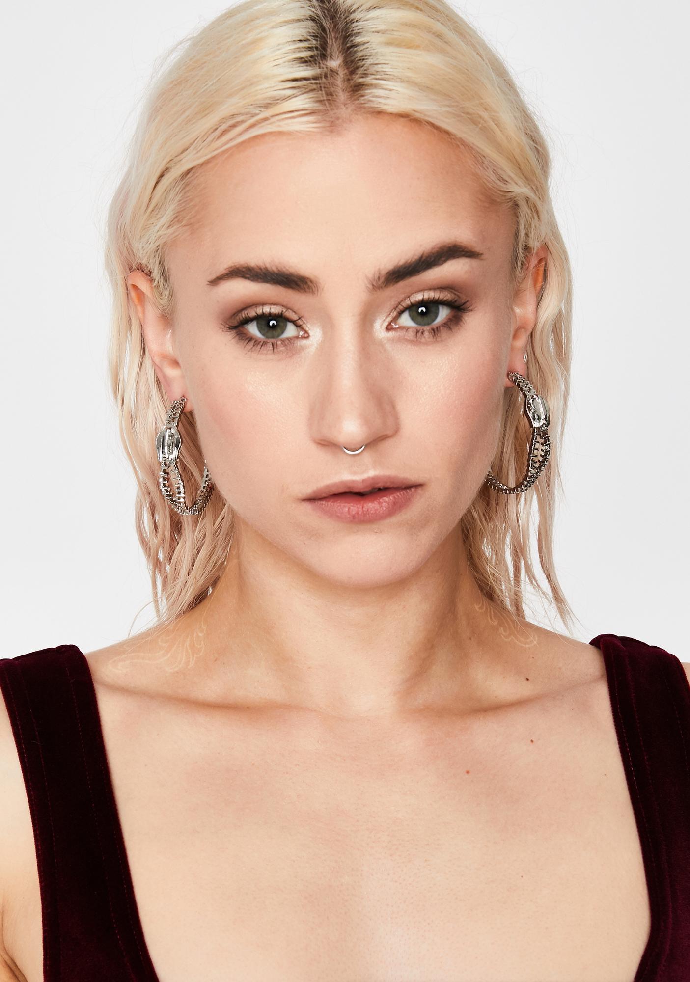 Zip It Hoop Earrings