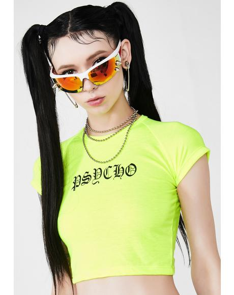 Might Go Psycho Neon Tee