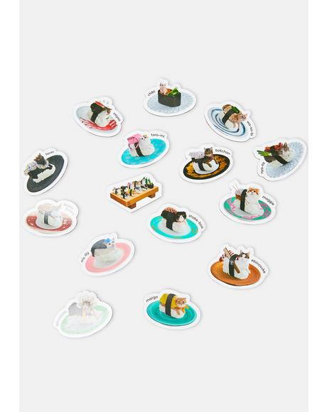 Sushi Cats Magnets Set