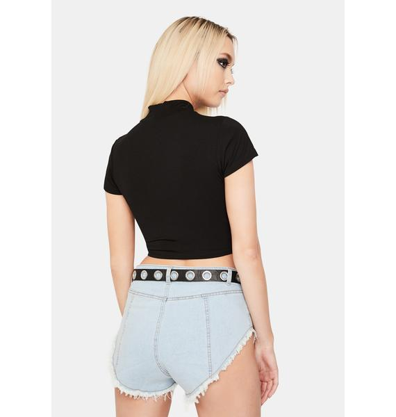 Don't Mind Me Ruched Crop Top