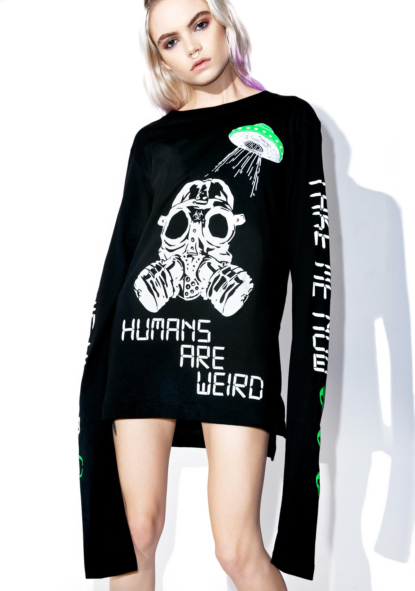 Current Mood Humans Are Weird Tee