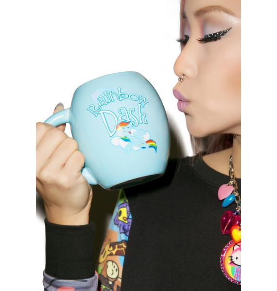 Rainbow Dash Oval Ceramic Mug