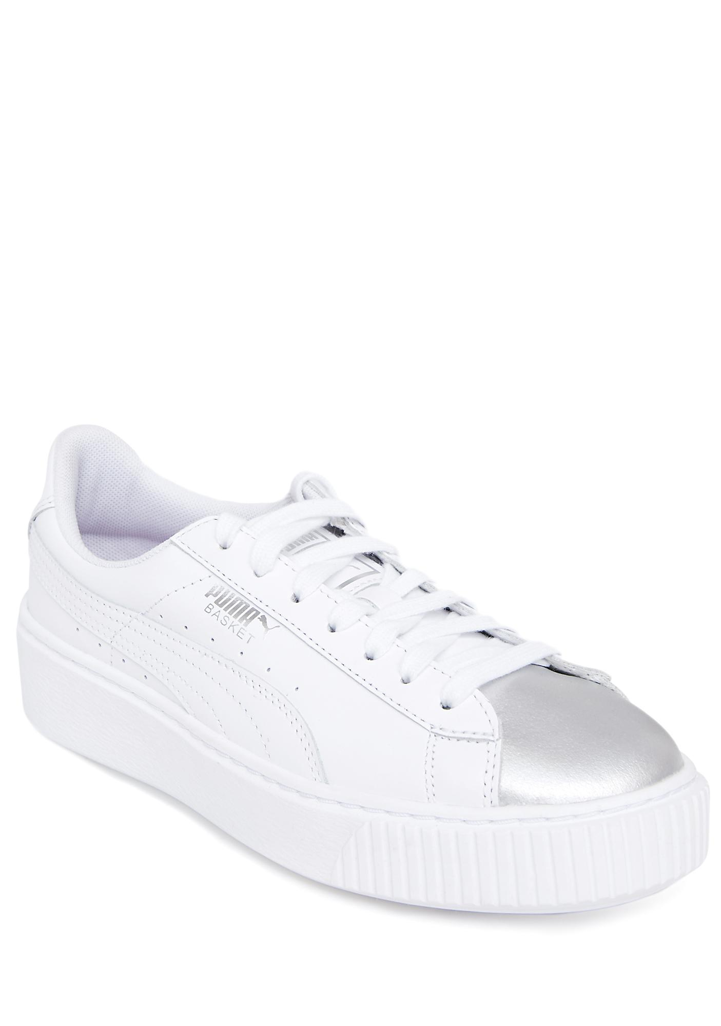 9a4a6e545879 PUMA Basket Platform Iridescent Sneakers · PUMA Basket Platform Iridescent  Sneakers ...