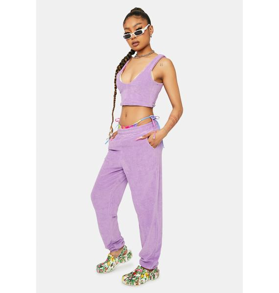 Downtime Bliss Terry Tank Joggers Set