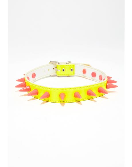 Caution Spike The Punch Choker