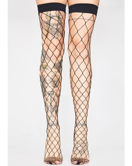 Doomsday Net Thigh Highs