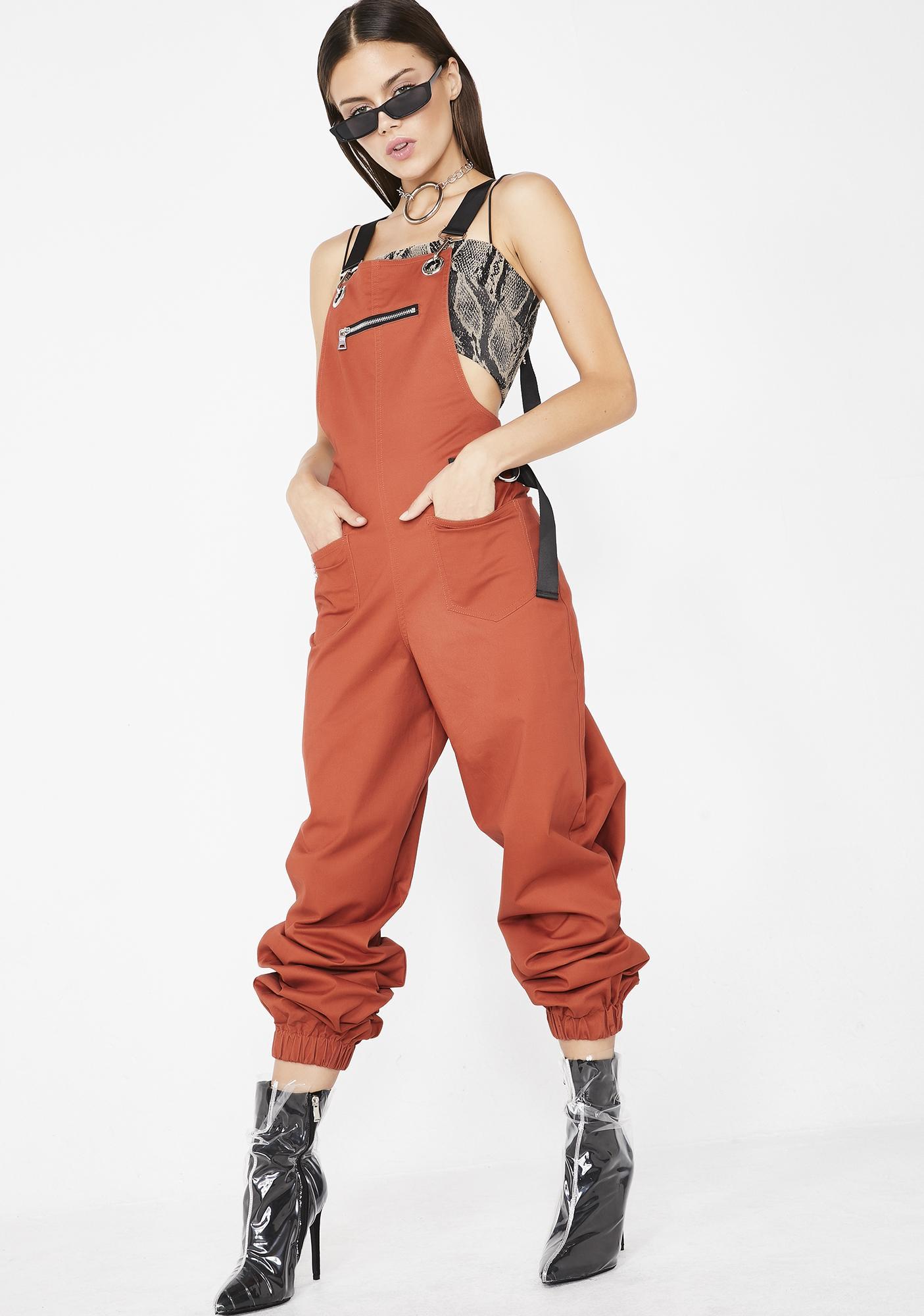 16659ec36151 I AM GIA Rust Cobain Overalls