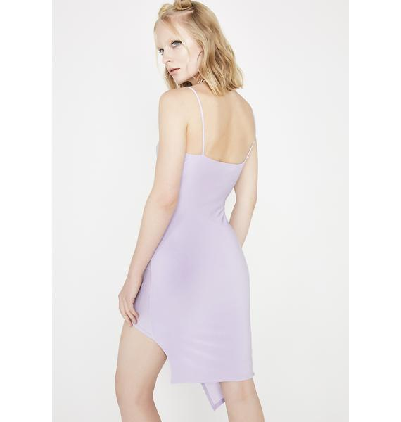 Lavender They Tried It Asymmetrical Dress
