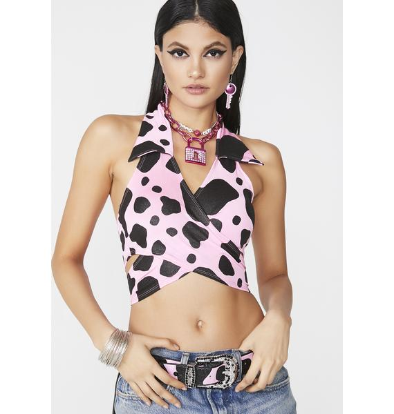 Club Exx Barnyard Belle Halter Top