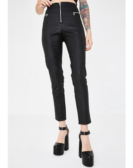 Pearl Vegan Leather Pants