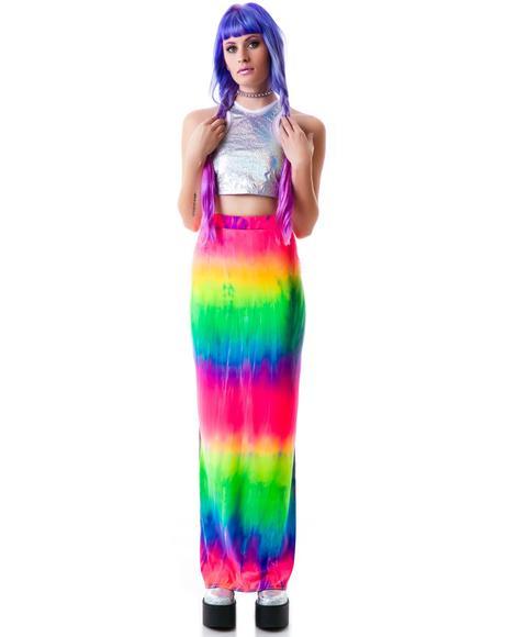Naida Rainbow Maxi Skirt