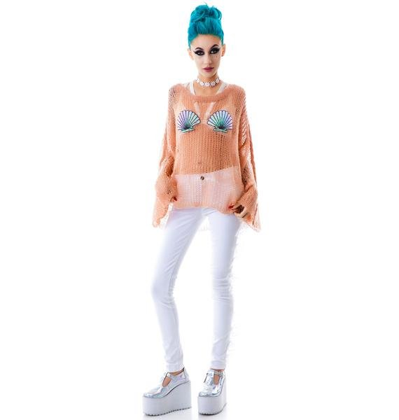 Wildfox Couture Shell Bra Lost Sweater