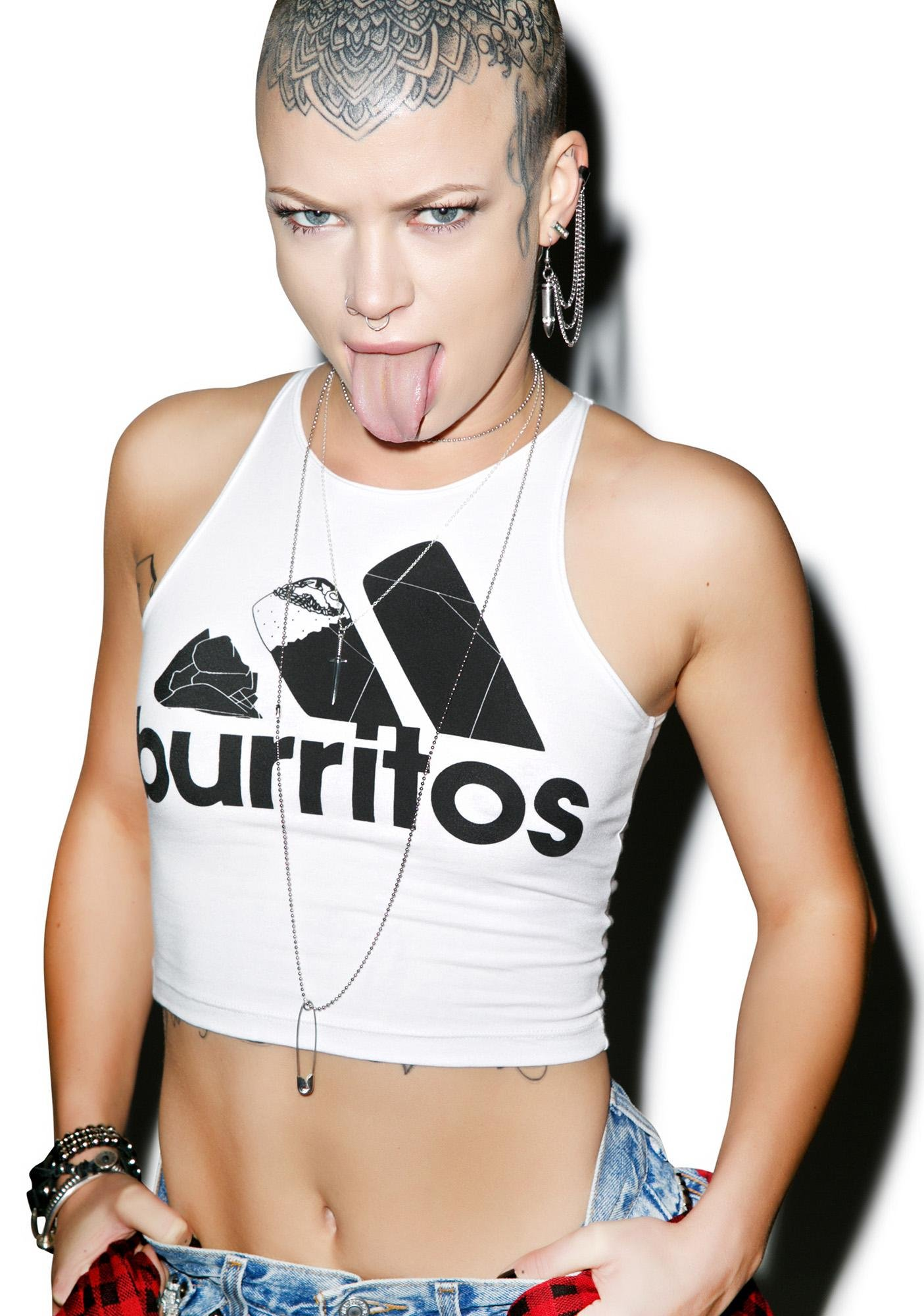 Danielle Guizio Burritos Crop Top
