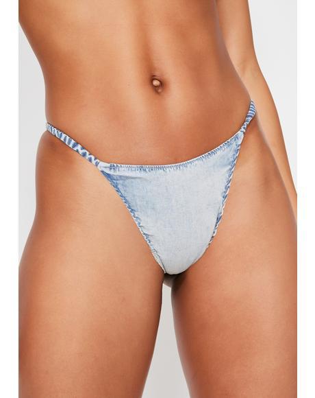 Daisy Denim Bikini Bottoms