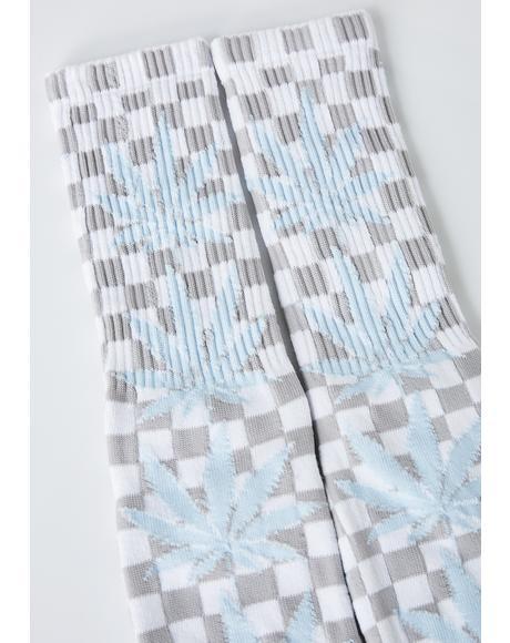 Checkered Plantlife Socks