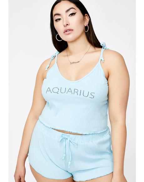 Actually Aquarius AF PJ Top