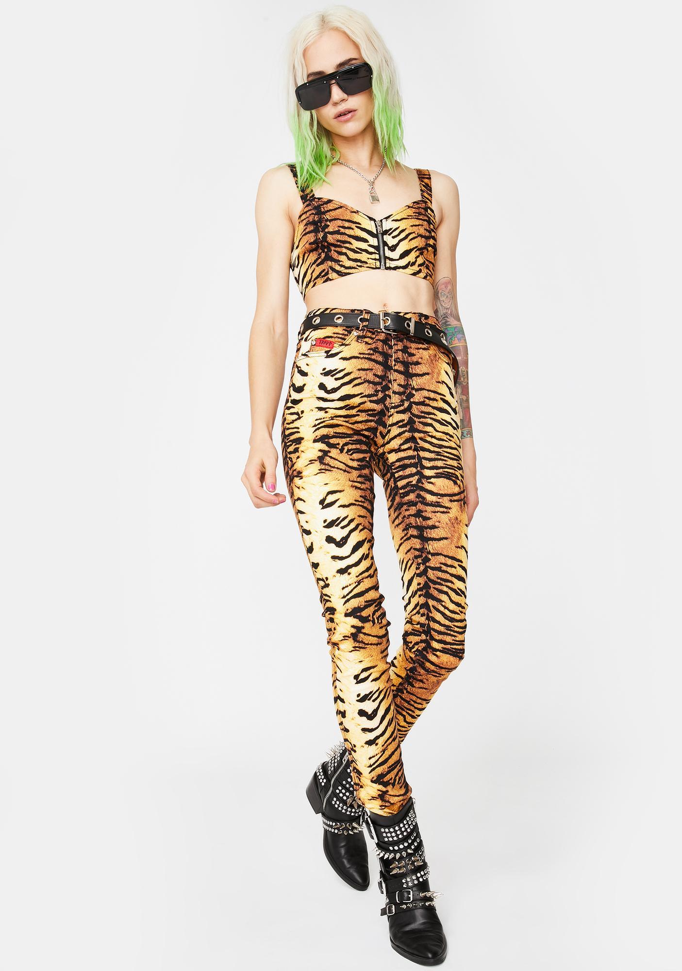 Tripp NYC Natural Tiger Bustier