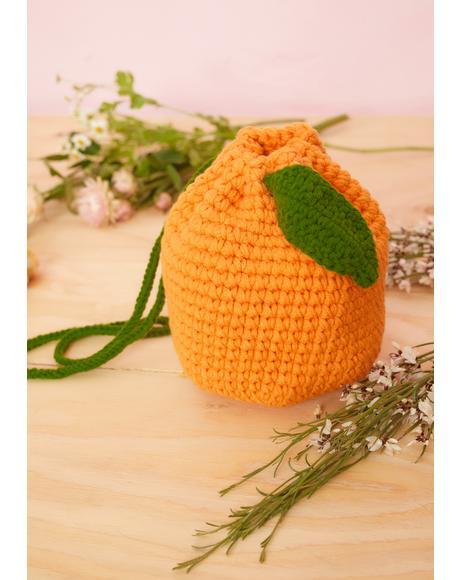 Juicy Sour Hour Crochet Lemon Bucket Bag