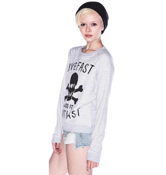 Zoe Karssen Live Fast Cause It Won't Last Sweater