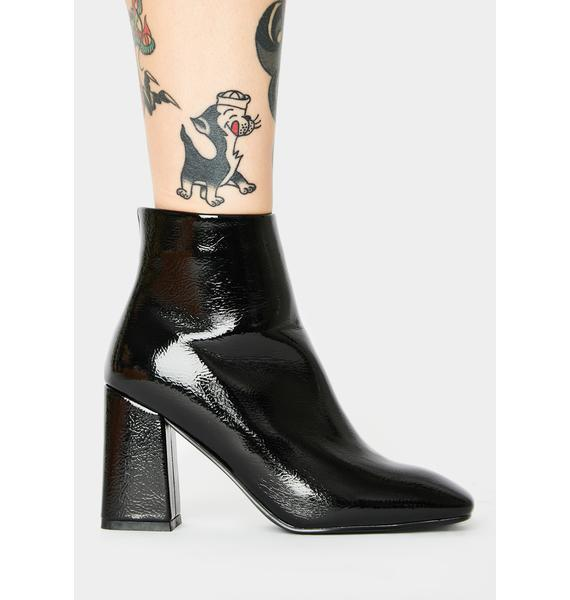 Public Desire Aimee Patent Ankle Boots