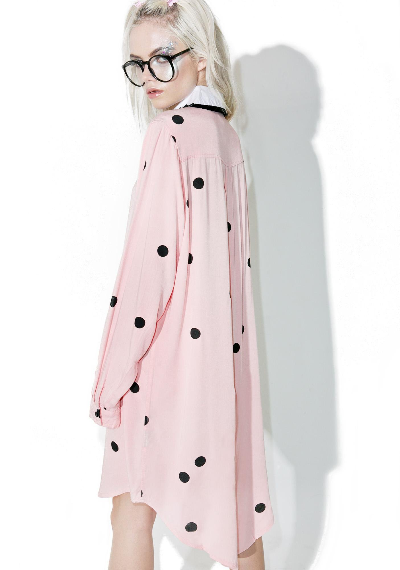 Lazy Oaf Flock Spot Shirt Dress