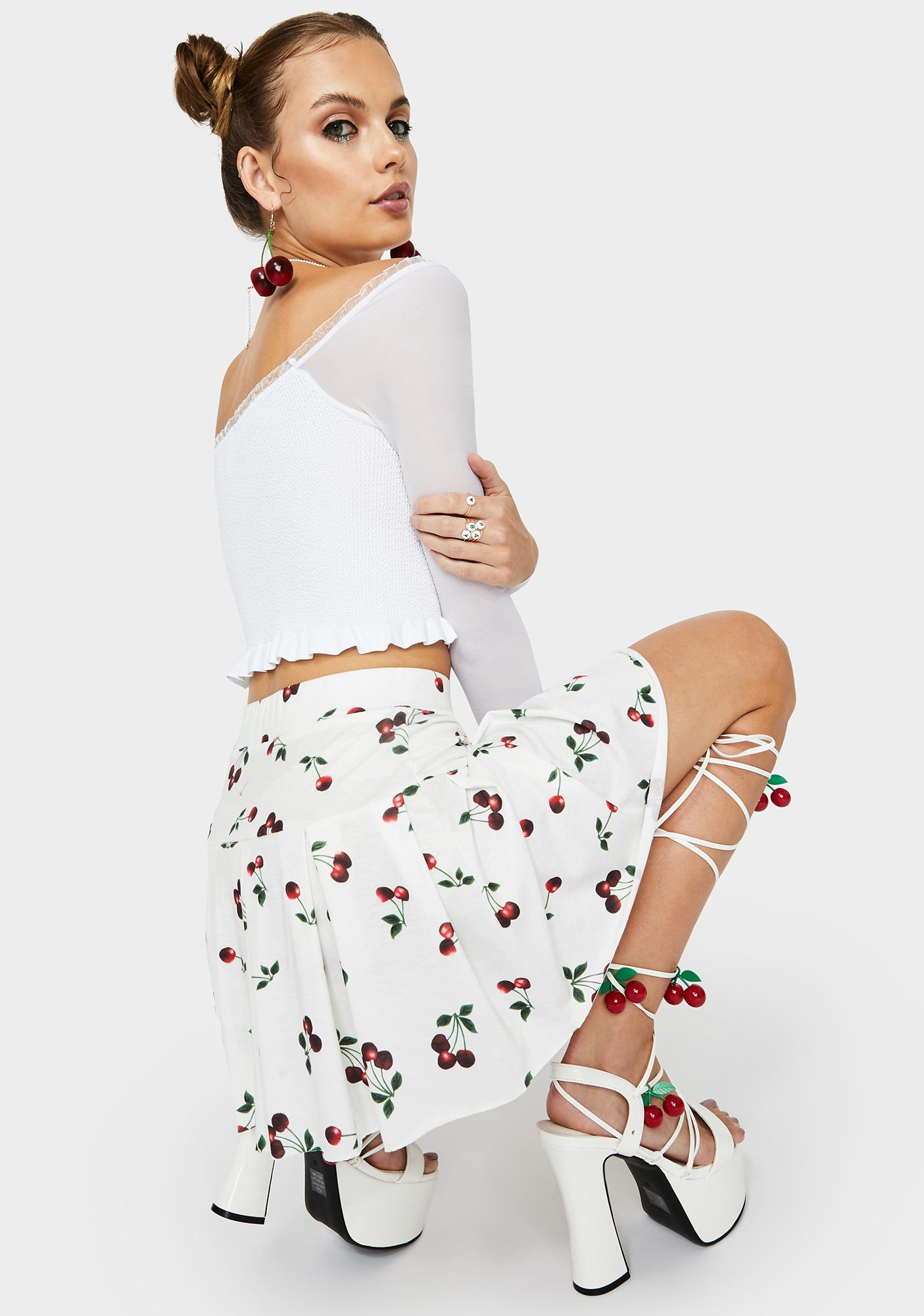 Vanilla Sweet Secrets Pleated Skirt