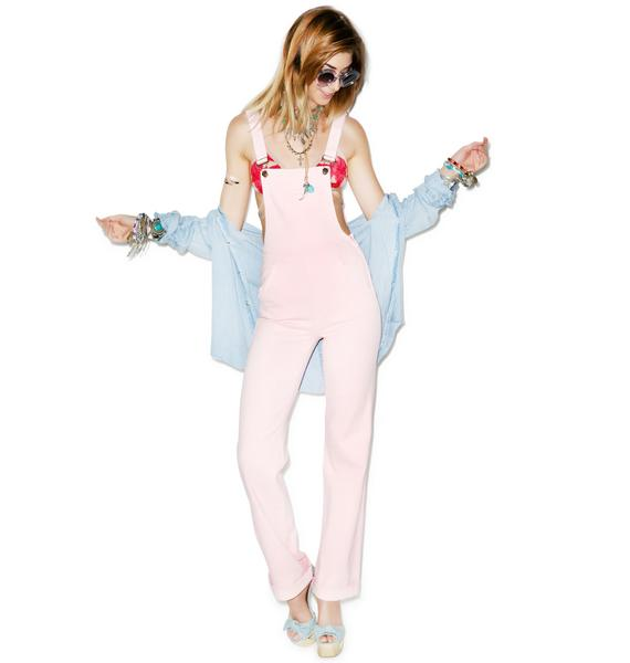Wildfox Couture The Ladonna High-Rise Straight Overalls