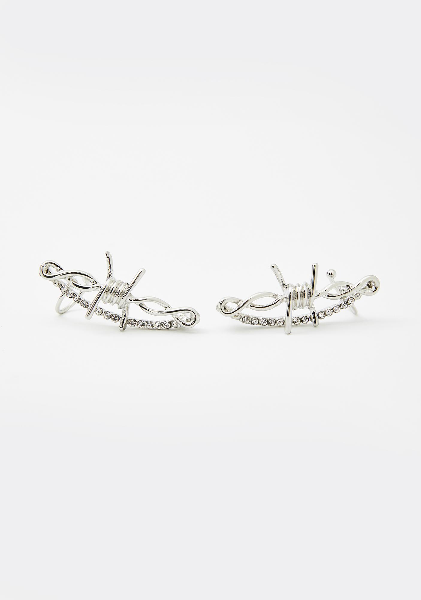Caged Rage Barbed Wire Ear Cuffs