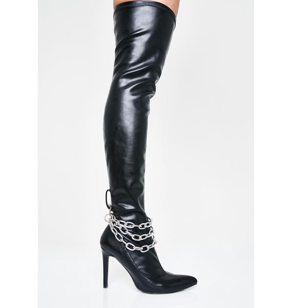 HOROSCOPEZ Vivacious Vixen Thigh High Boots