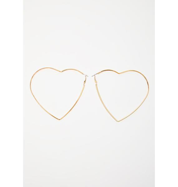 Big Hearted Hoop Earrings