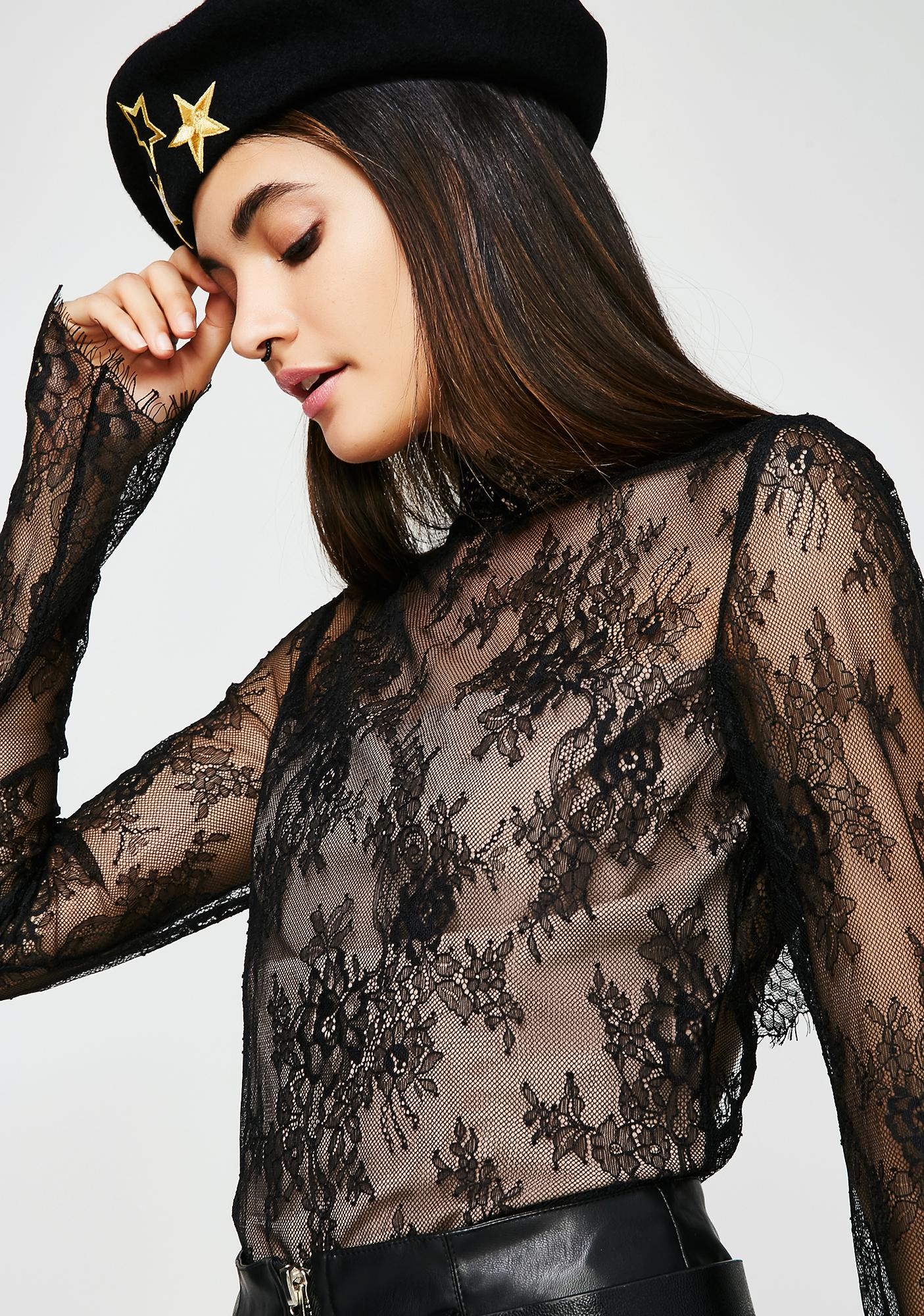Without A Trace Lace Top
