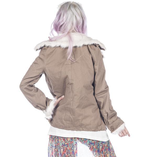 UNIF Army Sherpa Jacket