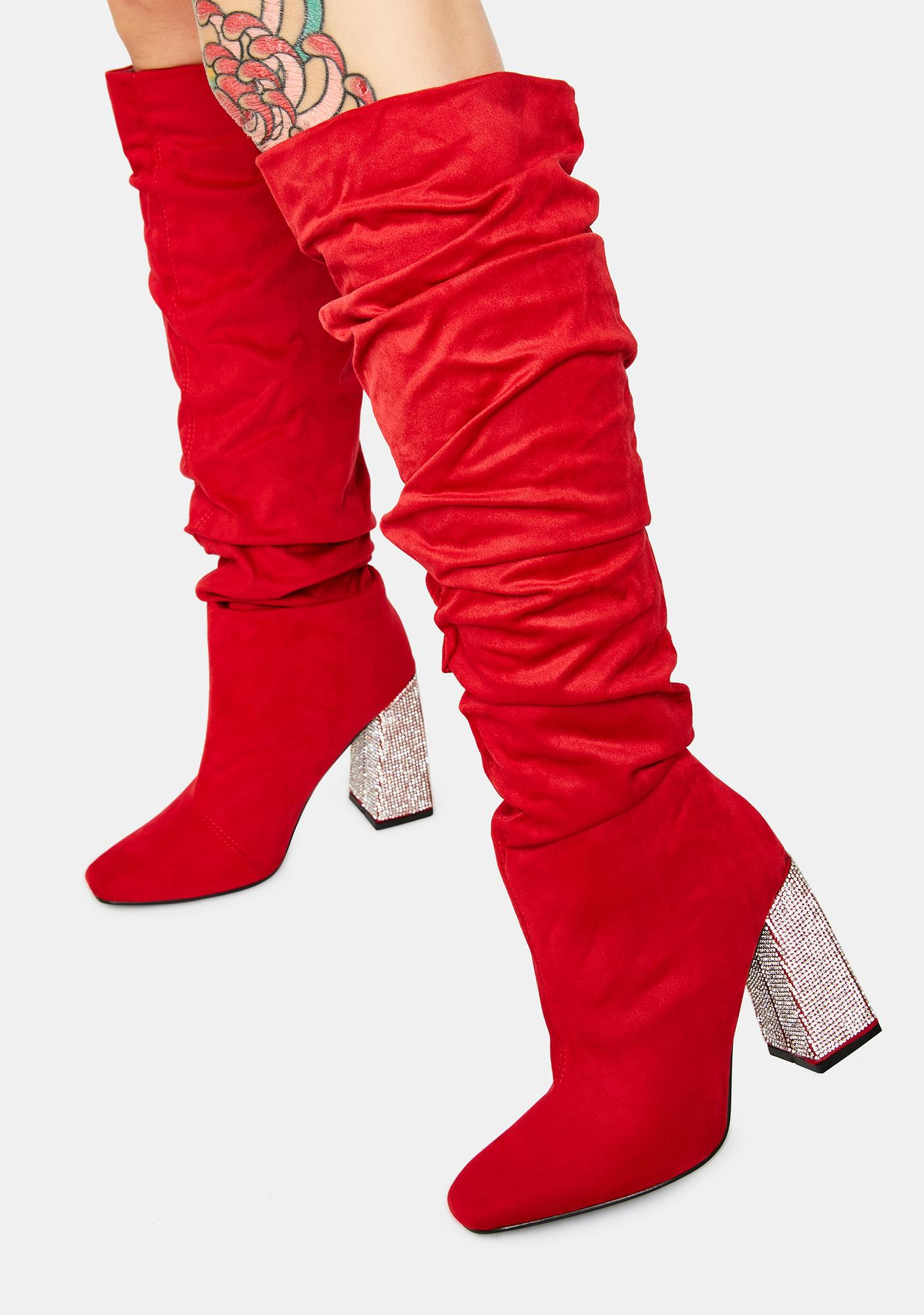 Scarlet Closer To The Picture Knee High Boots