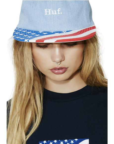 Denim 4th Of July Hat