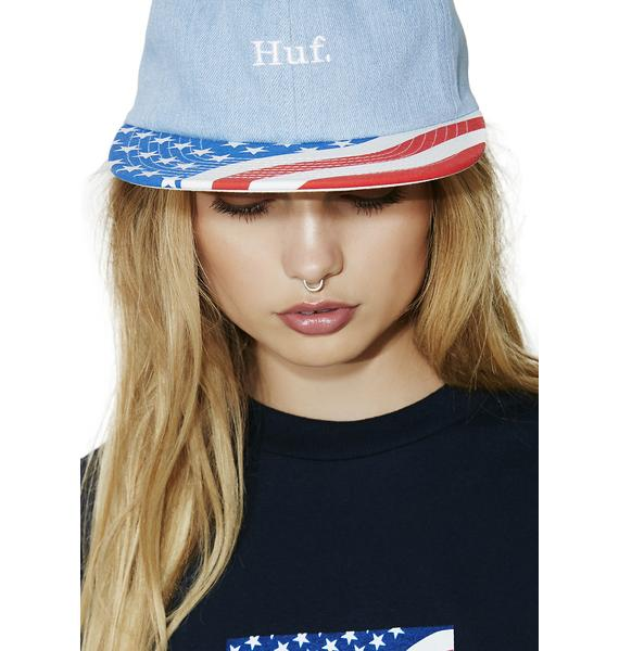 HUF Denim 4th Of July Hat
