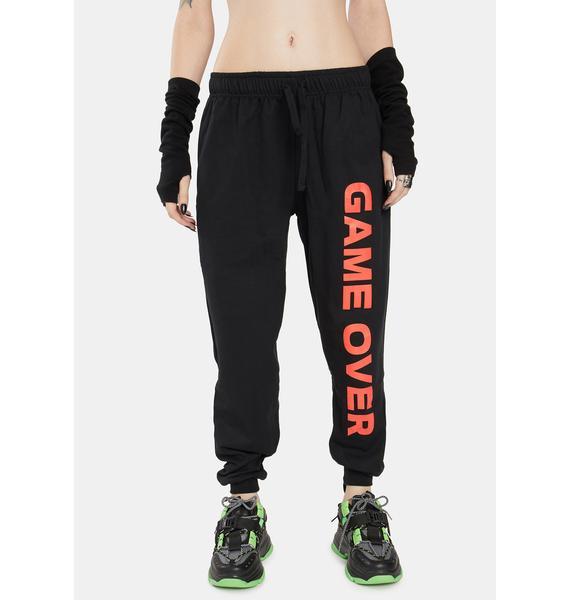 Long Clothing Game Over Jogger Sweatpants