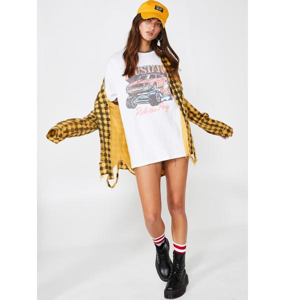 Junk Food Clothing Mustang Ride The Pony Tee