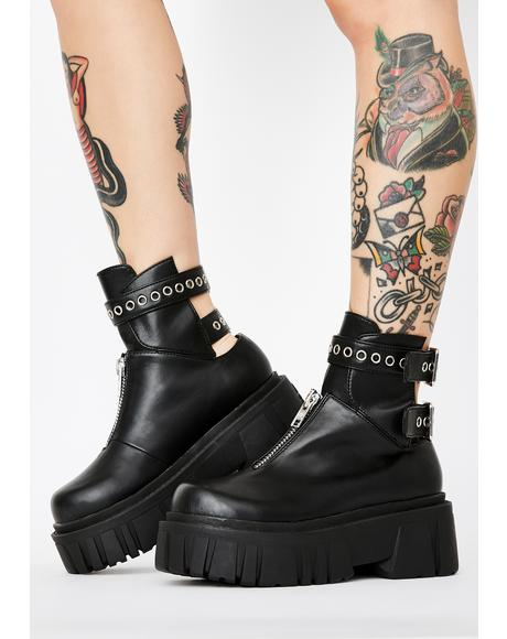 Culture Shock Buckle Boots