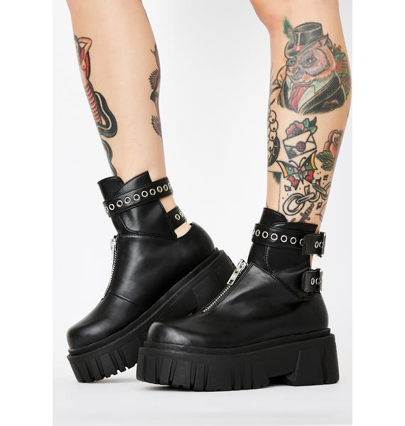 Current Mood Culture Shock Buckle Boots