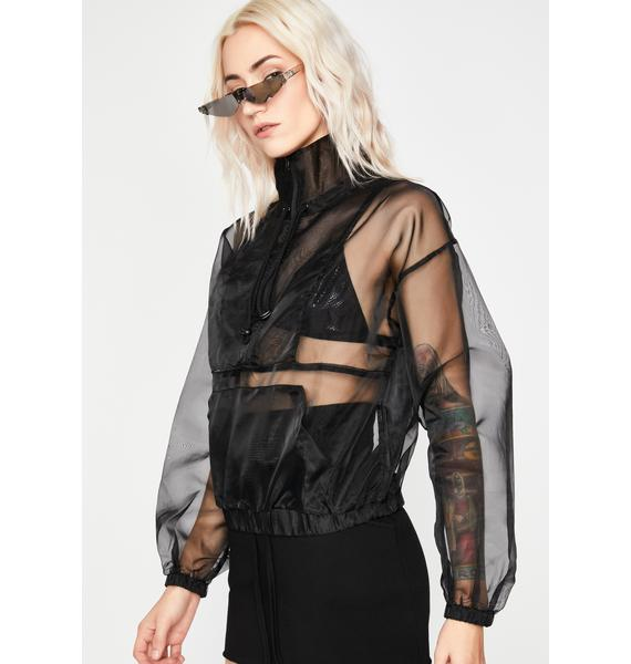 Tabloid Takeover Sheer Pullover