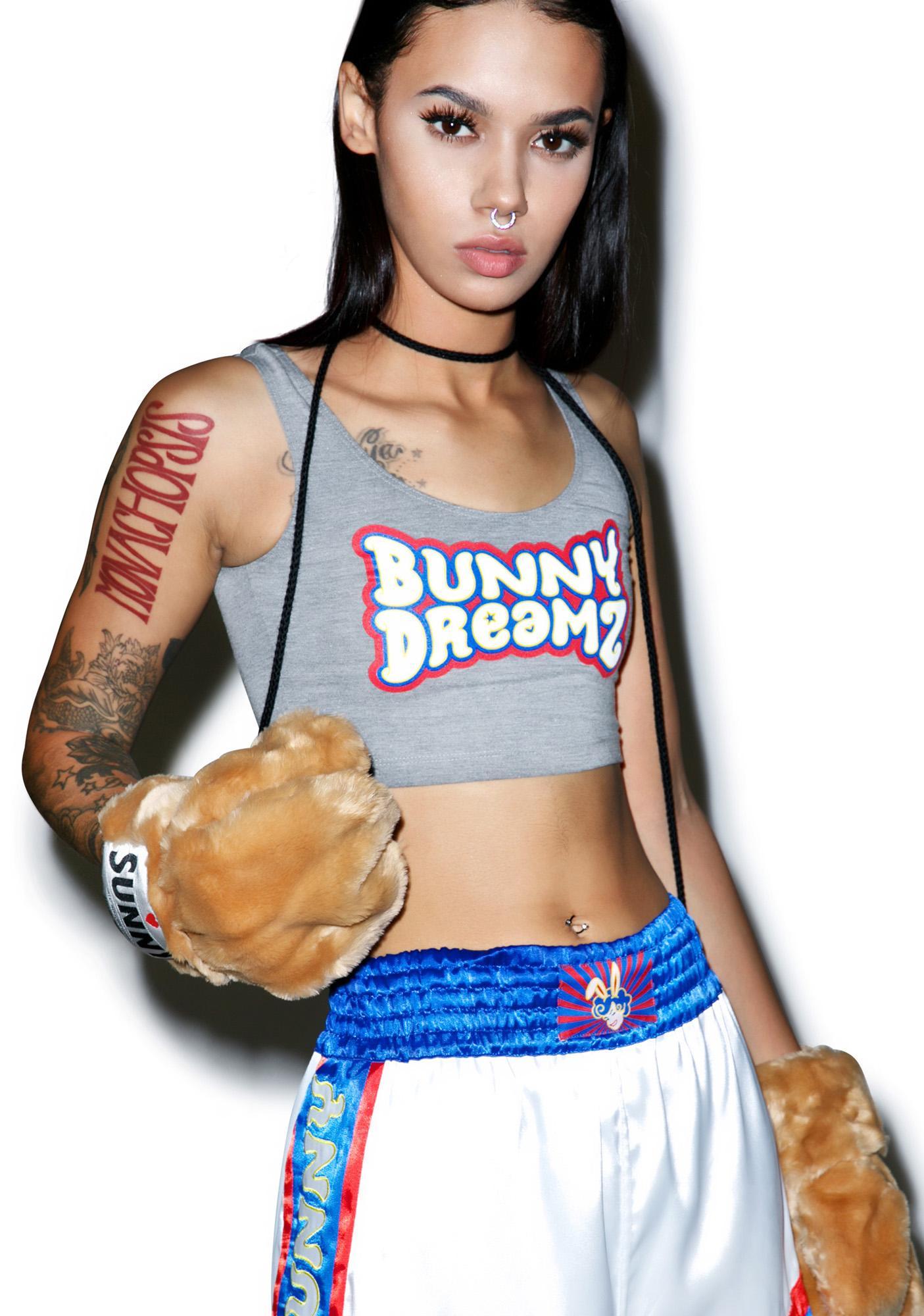 Bunny Dreamz Dark Logo Crop Top