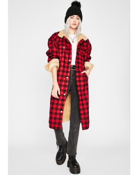 Miss Relentless Plaid Coat