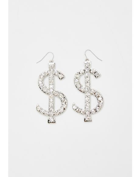 Set For Life Rhinestone Earrings