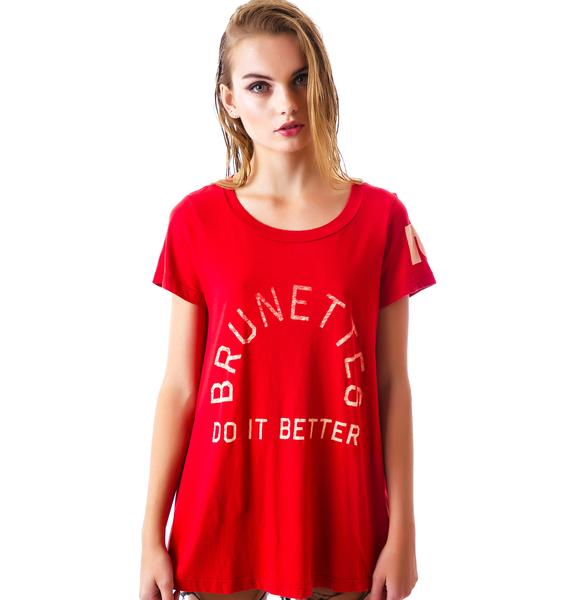 Rebel Yell Brunettes Do It Classic Crew Tee