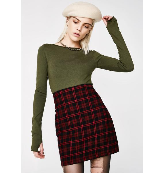 Heart Recess Rebel Plaid Skirt