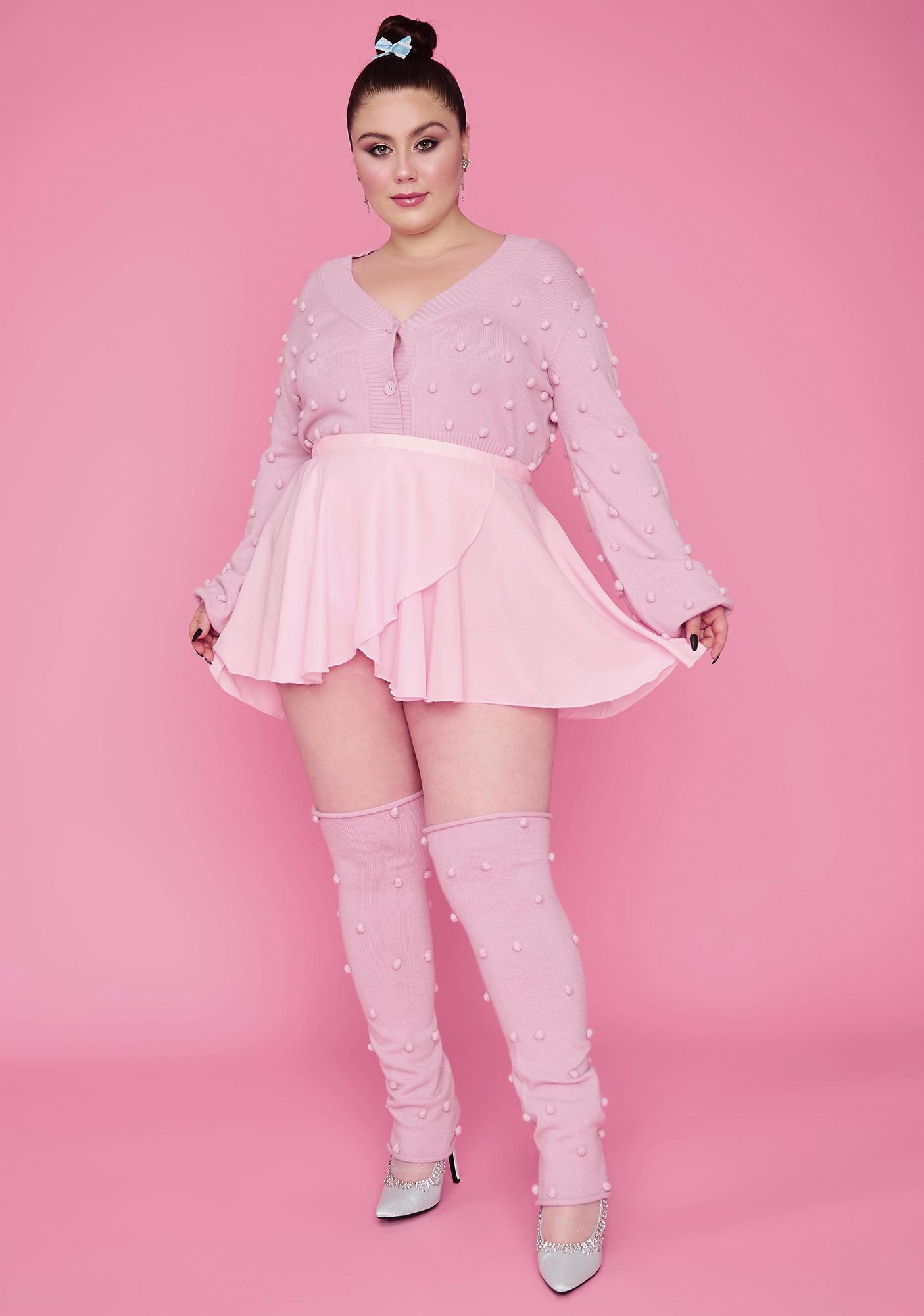 Sugar Thrillz Pretty Buns N' Bows Wrap Mini Skirt