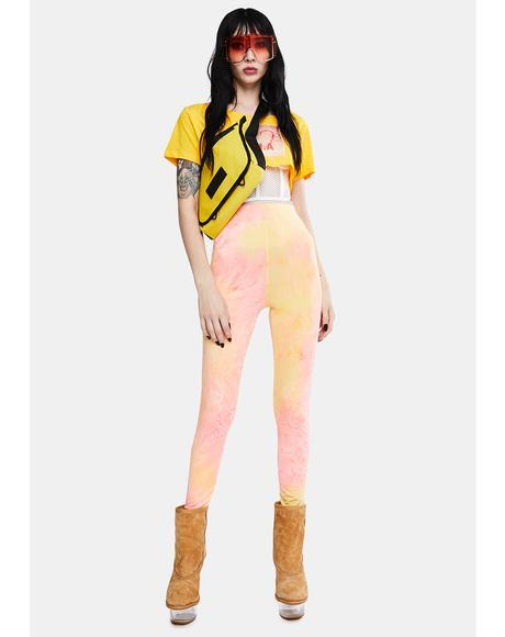 Neon Tie Dye Leggings