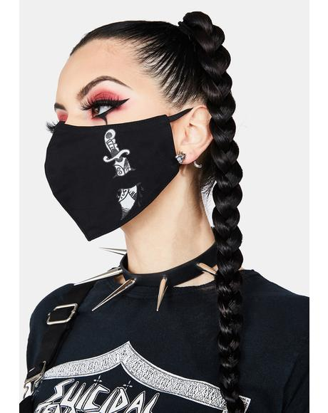 Skull And Dagger Face Mask
