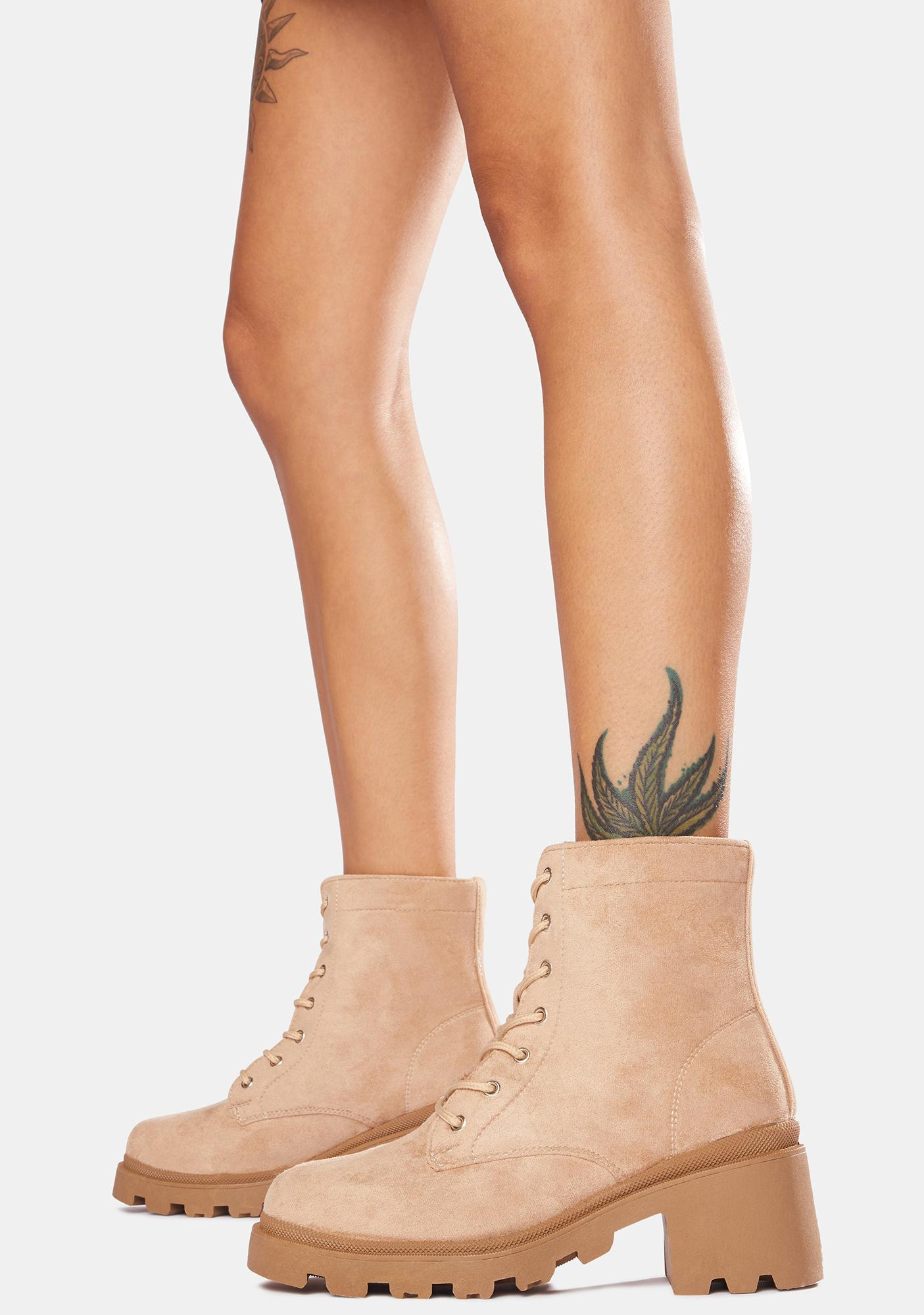 Tan Make Some Noise Ankle Boots